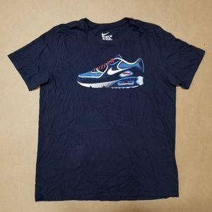 Nike Air Max Printed T-Shirt Navy Men's Size L